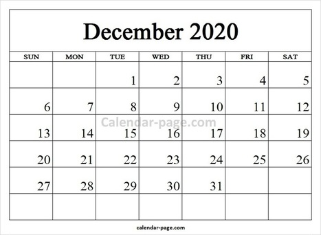 2020 December Calendar In Calendar Page Scoop It
