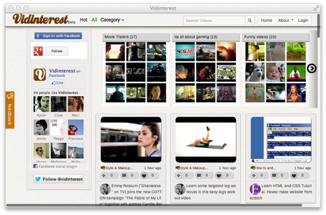 Vidinterest is a Pinterest Site for Videos Only | Surviving Social Chaos | Scoop.it