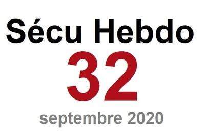 Sécu Hebdo 32 du 26 septembre 2020
