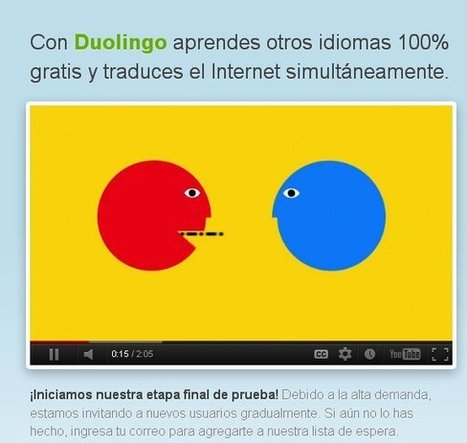 Duolingo, para aprender idiomas y traducir la web a la vez.- | ESOL for Adults | Scoop.it