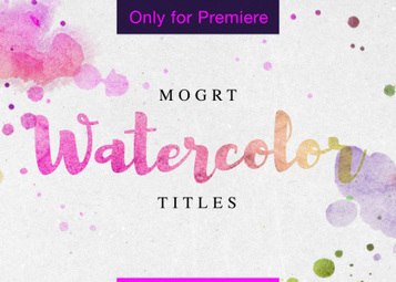 watercolor titles free motion graphics template enchanted media motion graphics templates scoop