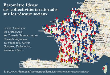 Baromètre Ideose des collectivités territoriales sur les réseaux sociaux | Ardesi - Web 2.0 | Scoop.it