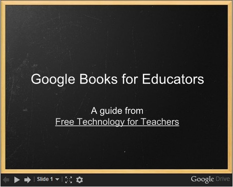 Free Technology for Teachers: A Short Guide to Using Google Books for Research | Teaching College | Scoop.it