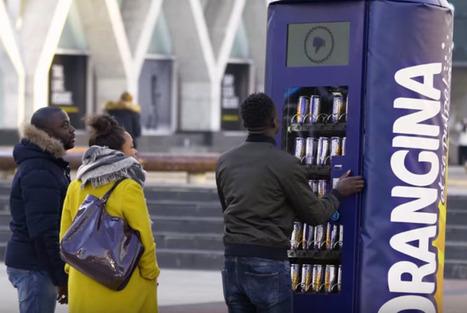 Orangina invite les passants à secouer un distributeur | streetmarketing | Scoop.it