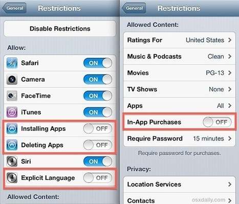 How to Use Restrictions as Parental Controls on an iPhone, iPad, and iPod Touch | iPhone stuff | Scoop.it