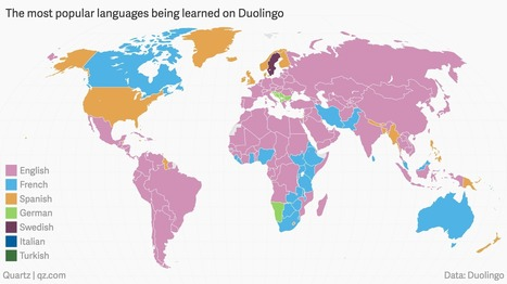 The languages the world is trying to learn, according to Duolingo | Geography Education | Scoop.it