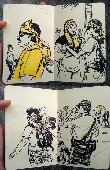 Sketches from Bersih 4 - Poskod Malaysia   Malaysian Things   Scoop.it