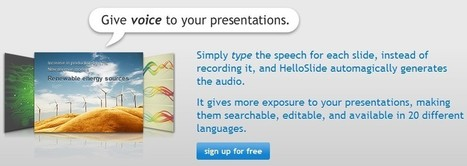 HelloSlide - Bring your slides to life | Creative Tools... and ESL | Scoop.it