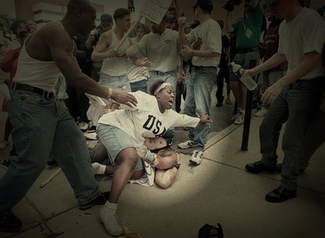 Here's The Moment A Black Woman Protected A White Man At A KKK Rally | Brainfriendly, motivating stuff for ESL EFL learners | Scoop.it