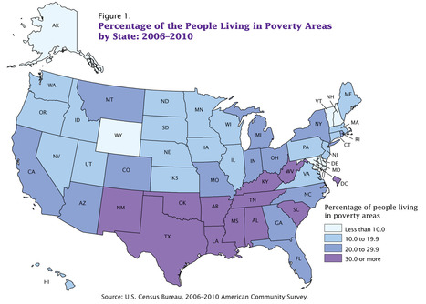 Map of the Day: America's Poverty Belt | AP Human Geography Education | Scoop.it