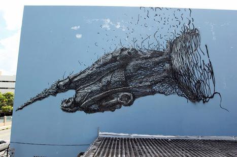 DALeast New Mural For Los Muros Hablan '13 – San Juan, Puerto Rico   World of Street & Outdoor Arts   Scoop.it