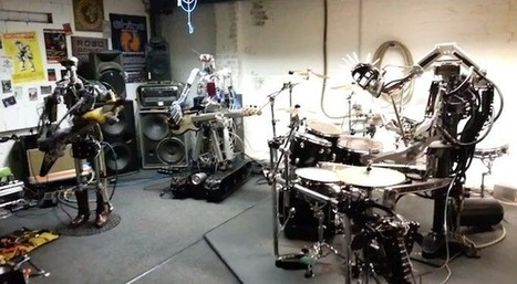 All-robot band plays Motorhead\'s \'Ace of Spades\' | Bots and Drones | Scoop.it