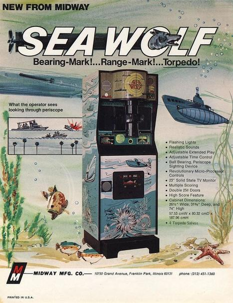 1976 Midway Sea Wolf coin operated arcade video game | Gaming Games | Scoop.it