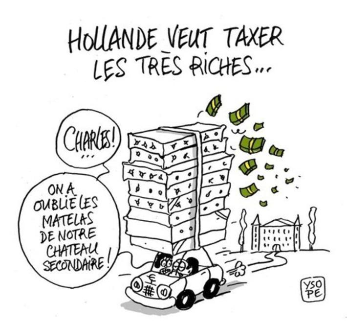 Hollande veut taxer les très riches   Baie d'humour   Scoop.it