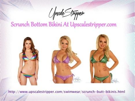 Scrunch butt stripper swimsuit