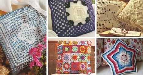 Patrones Para Cojines Patchwork.34 Cojines A Crochet Patrones Para Descargar