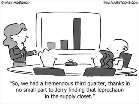 Fab Third Quarter Thanks to a Leprechaun | Just Story It! Biz Storytelling | Scoop.it