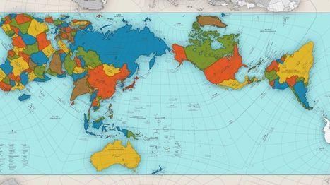 El extraordinario mapa que muestra al mundo como es realmente - BBC Mundo | GEOGRAFIA SOCIAL | Scoop.it