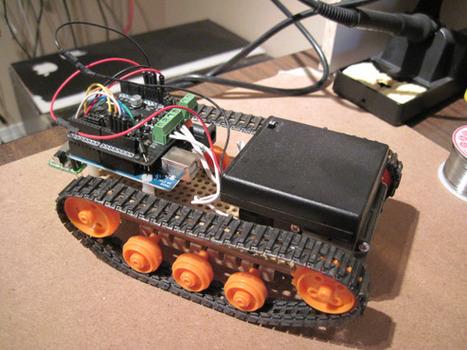 Building a rather rudimentary Arduino tank bot | Digital Transformation | Scoop.it