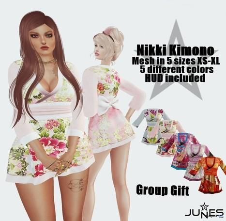 Nikki Kimono Group Gift by JUNES | Teleport Hub - Second Life Freebies | Second Life Freebies | Scoop.it