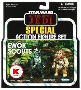 Review Toy Star Wars Vintage 2012 Ewok Scou