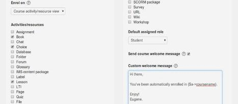Update On Auto Enrolment For Moodle 3.1 For Frictionless Sign Up | moodle3 | Scoop.it