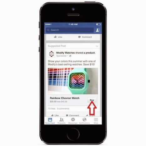 eCommerce : Facebook teste le bouton Acheter - #Arobasenet | Digital Martketing 101 | Scoop.it
