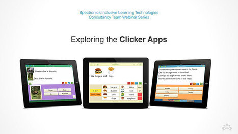 Latest Spectronics Online Video! Exploring the Clicker Apps Part 3: Clicker Docs | The Spectronics Blog | iPads in Special Education | Scoop.it