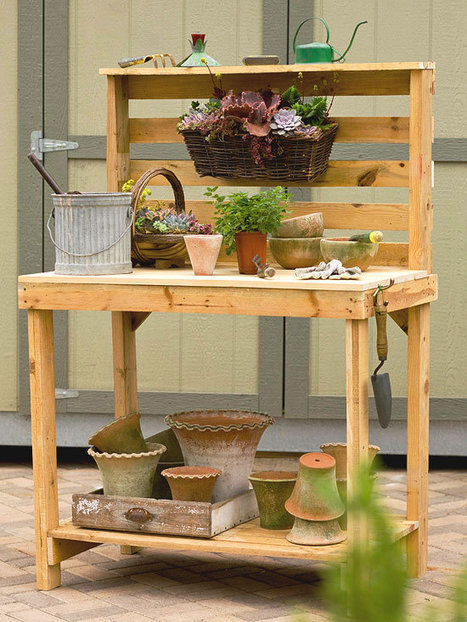 Potting Bench Made Of Pallets   ideas verdes   Scoop.it
