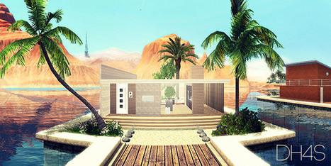 Une maison moderne pour lucky palms for Maison moderne de luxe sims 3