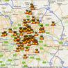 London riots maps