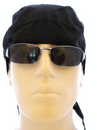 7b9a9200b65 Skull Cap Black Solid Color Doo Rag Durag Head Wrap Medical Cap Bandana  Wrap