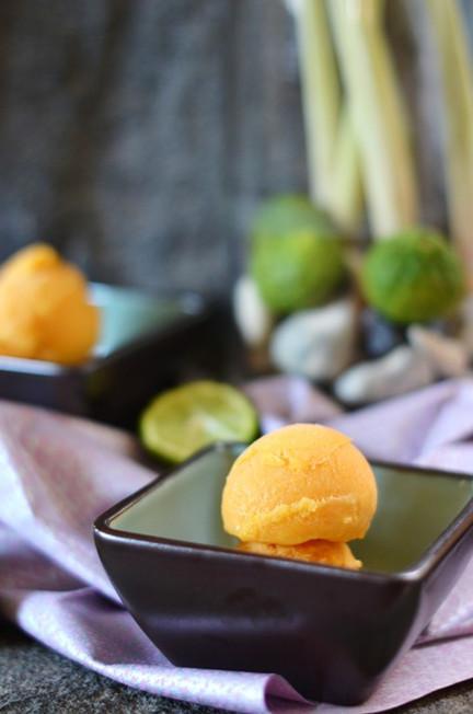 Food Wanderings: Persimmon, Kaffir Lime, Lemongrass and Purple Basil Sorbet | Food for Foodies | Scoop.it