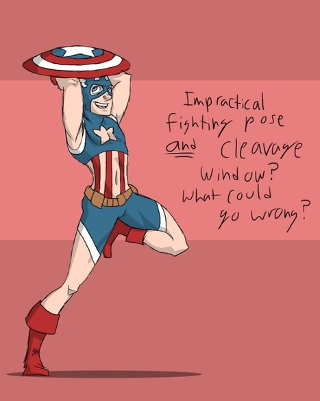 If Male Superhero Costumes Were Designed Like the Females'   All Geeks   Scoop.it