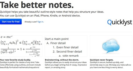 Quicklyst - take better notes. | Business and Economics: E-Learning and Blended Learning | Scoop.it