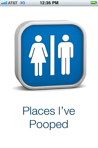 Places I've Pooped for iPhone 3G, iPhone 3GS, iPhone 4, iPhone 4S, iPad Wi-Fi + 3G and iPad 2 Wi-Fi + 3G on the iTunes App Store | Geotechnobabble | Scoop.it