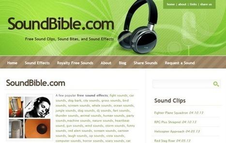 SoundBible, gran colección de sonidos y efectos sonoros gratis para tus proyectos   Sitios y herramientas de interés general   Scoop.it