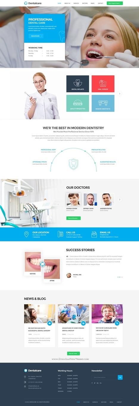 hospital in creative themes and template download scoop it