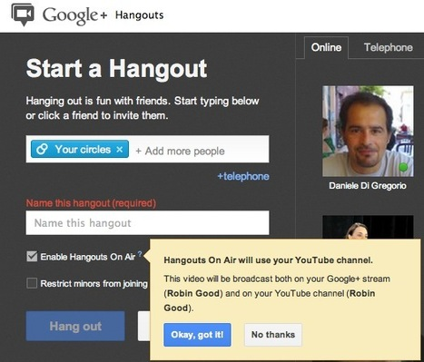 Google Hangouts On-Air Is Live: Check Your Account | Creativity as changing tool | Scoop.it