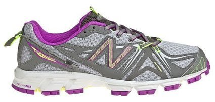 e947a6ad71 New Balance Women's WT610 Trail Running Shoe,Silver/Purple,7 B US
