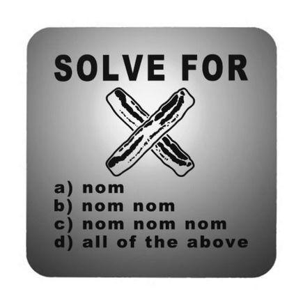 Simple Bacon Math Beverage Coasters | SNR | Scoop.it