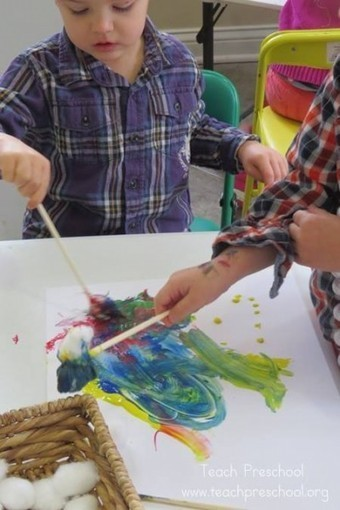Chopstick painting | Happy Days Learning Center - Resources & Ideas for Pre-School Lesson Planning | Scoop.it