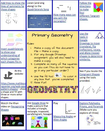 Primary Geometry Hyperdocs Tic Tac Toe | HyperD