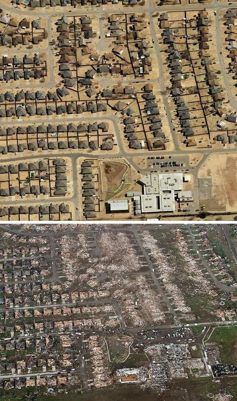 Before and after: Tornado cuts devastating path through Oklahoma | Geography 101 | Scoop.it