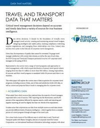 Data That Matters - Business Travel Intelligence   White Papers   Scoop.it