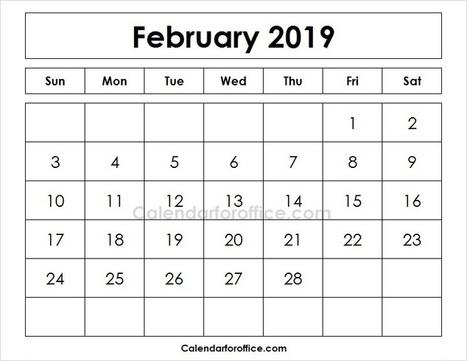 Editable Calendar February 2019 In Calendar For Office Scoop It
