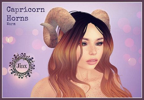 Jinx : Capricorn Horns Warm - FREE from Jinx at the 11th Vintage Gacha Fir - opens 16th January @12pm SLT | 亗 Second Life Freebies Addiction & More 亗 | Scoop.it