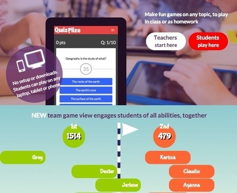 Convierte las evaluaciones en actividades divertidas con Quizalize | Educación (métodos y herramientas) | Scoop.it