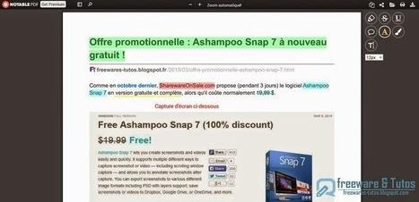 Notable PDF : un outil en ligne pratique pour annoter les fichiers PDF | François MAGNAN  Formateur Consultant | Scoop.it