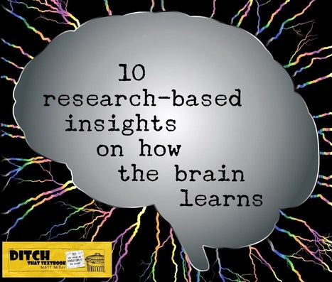 10 research-based insights on how the brain learns by @mattmiller | Mark's Pedagogy | Scoop.it